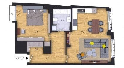 למכירה דירת 74 מר 2 חדרים + kk בשכונת Příčná בעיר החדשה, פראג 1 (2)