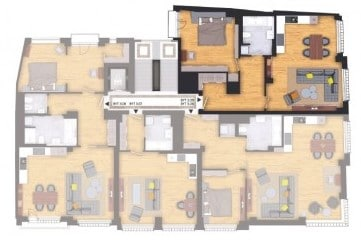 למכירה דירת 74 מר 2 חדרים + kk בשכונת Příčná בעיר החדשה, פראג 1 (3) - Copy