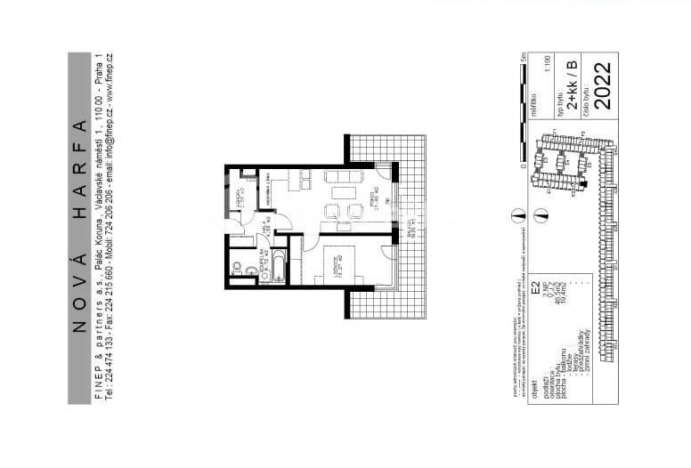 למכירה דירת 2 חדרים בשכונת ויסוצ'אני - פראג 9 (1)