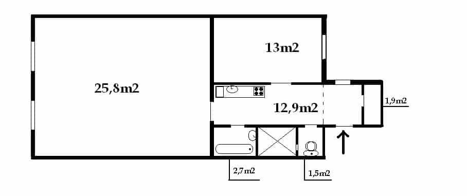 דירה 2+1 פראג 1 העיר החדשה (4)