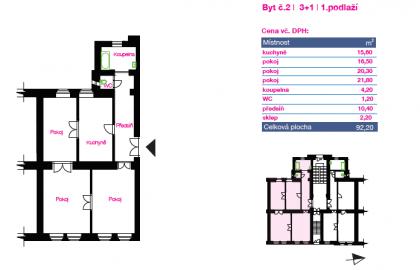 """למכירה בפילזן דירת 3+1 בגודל 92 מ""""ר"""