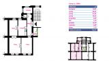 דירה מספר 4 קומה שנייה 97 מטר רבוע 3-1