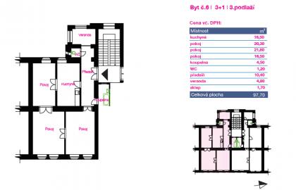 """למכירה בפילזן דירת 3+1 בגודל 98 מ""""ר"""
