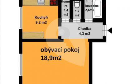 למכירה דירת 1+1 בגודל 38 מטר בפראג 10 שכונת סטרשניצה