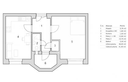 למכירה דירת 2 חדרים בשכונת ורשוביצה בפראג