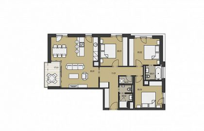 """למכירה דירת 4 חדרים יוקרתית בגודל 95 מ""""ר"""