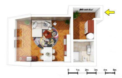 """למכירה בפראג 7 דירת 1+kk בגודל 45 מ""""ר"""