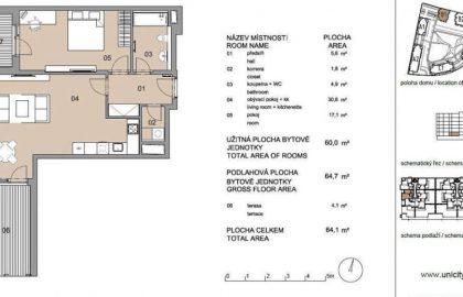 """למכירה בפילזן דירת 2+KK בגודל 60 מ""""ר"""