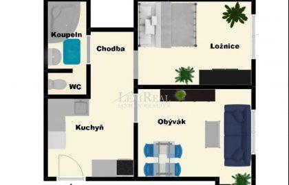 """למכירה בפראג 4 דירת 1+1 בגודל 39 מ""""ר"""
